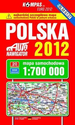 Polska. Mapa samochodowa 1:700 000