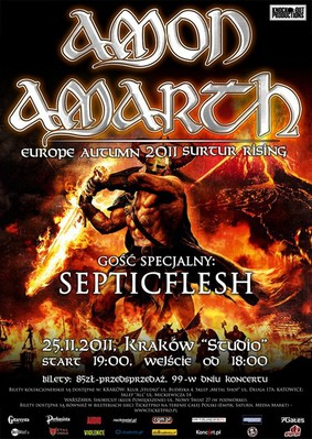 Amon Amarth - Surtur Rising: Europe Autumn Tour