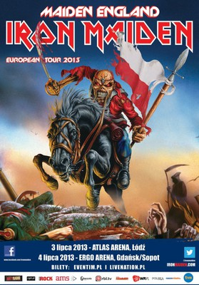 Iron Maiden - koncert w Łodzi / Maiden England World Tour