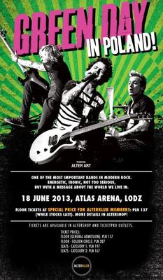 Green Day - koncert w Polsce / Green Day - Uno, Dos, Tré, Tour!