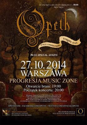 Opeth - koncert w Polsce / Opeth - Pale Communion Europe 2014