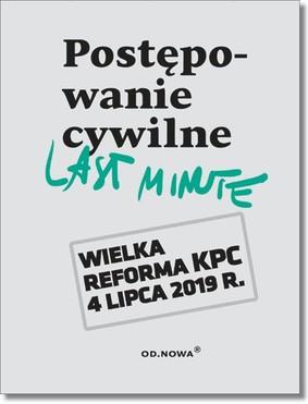 Bogusław Gąszcz, Anna Talaga - Postępowanie cywilne last minute 2019