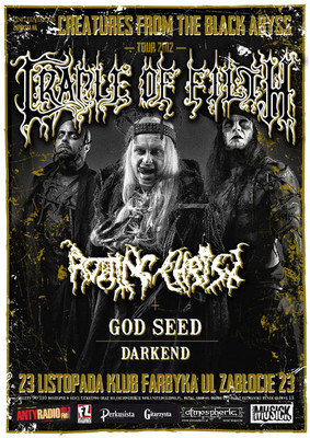 Creatures From The Black Abyss Tour 2012